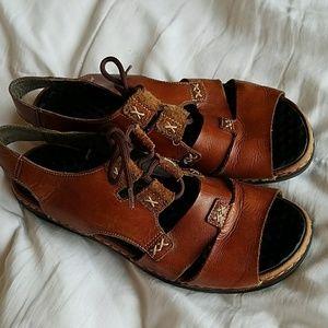 Rieker leather boho sandals
